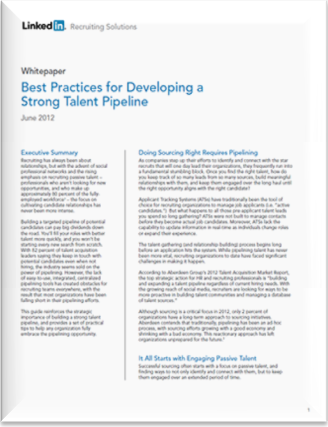 LinkedIn Whitepaper Best Practices for Developing a Strong Talent Pipeline